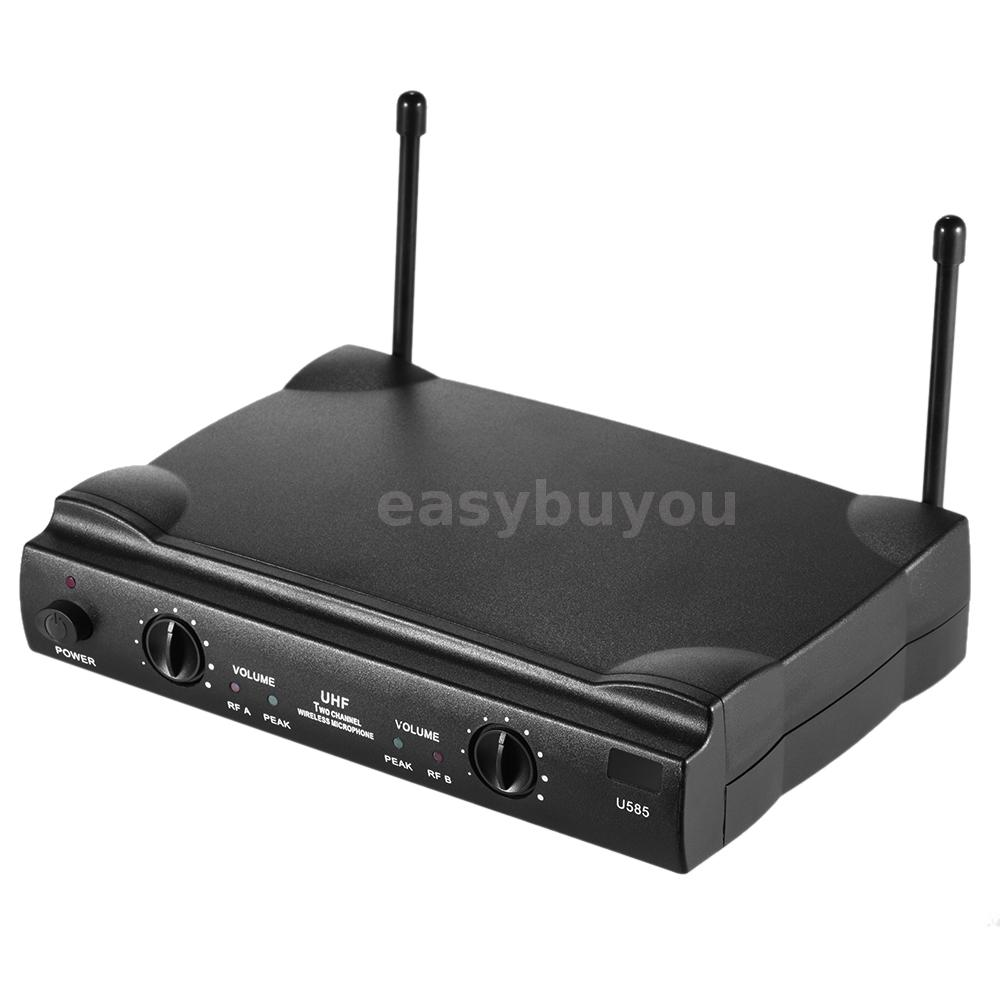 Uhf Dual Channels Wireless Microphone System Transmitter