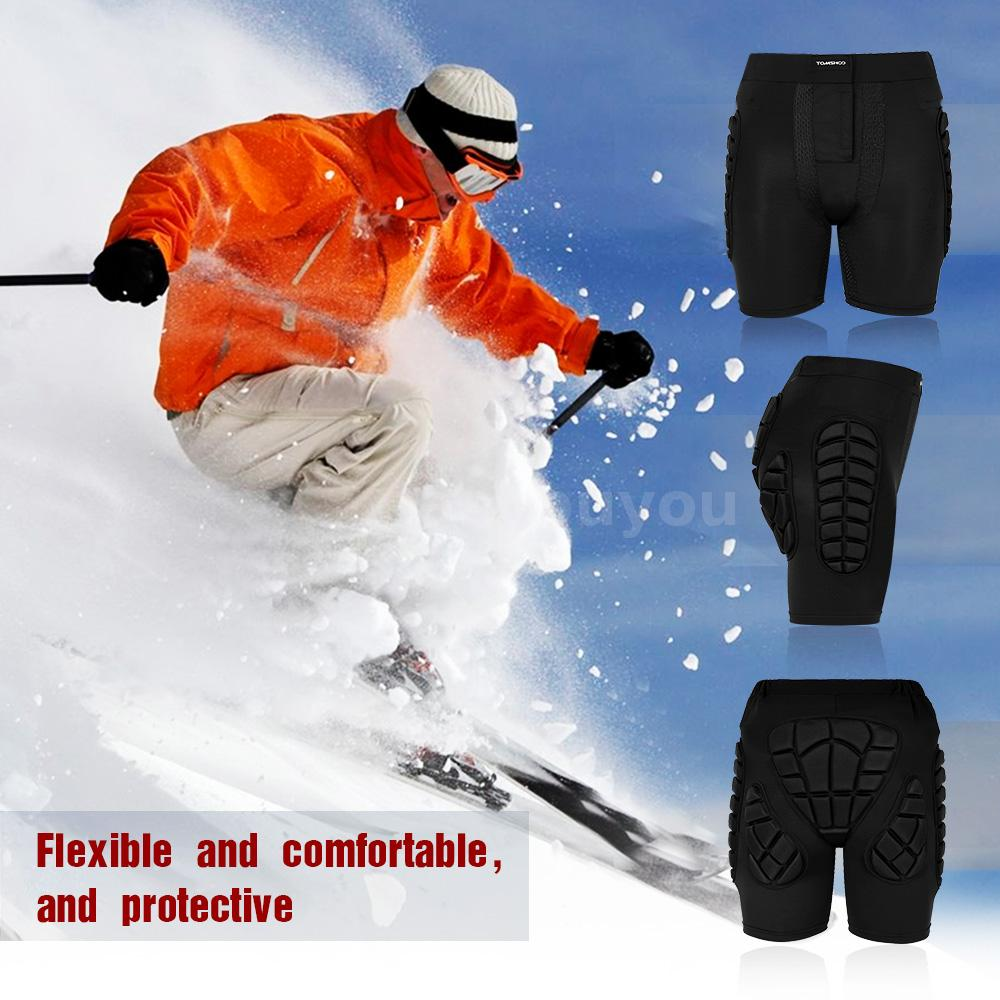 XL TOMSHOO Protection Hip 3D EVA Padded Pants Breathable Lightweight Protective Gear for Ski Skate Snowboard Skating Skiing