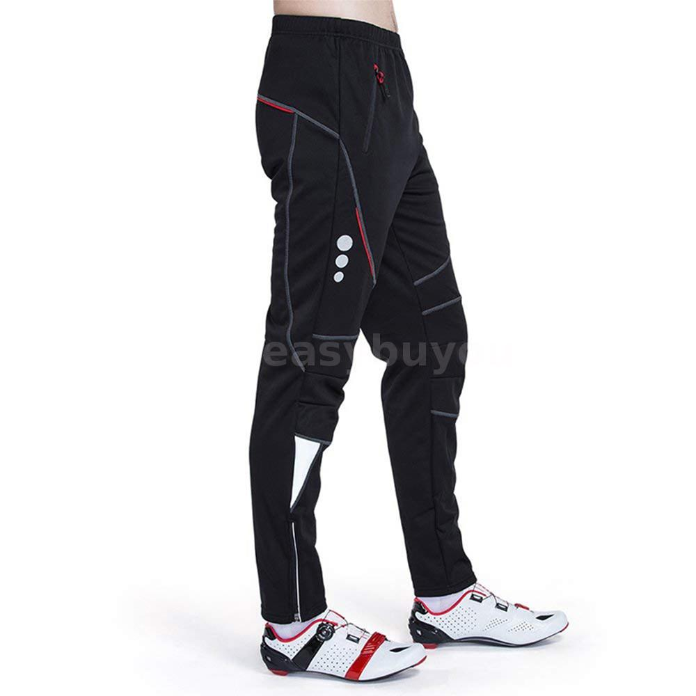 Men/'s Bike Cycling Riding Pants Trousers Windproof Winter Thermal Fleece BB I0V9
